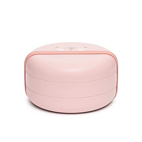 Suavinex - Set Platos Combinables Para Comer Fuera de Casa Capacidad 2 Comidas Apto Para Microondas y Lavavajillas Para Bebés +4 Meses, Color Rosa (306749)