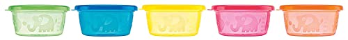 Nuby ID91164, Set De Recipientes Herméticos, Multicolor, 300 ml, Pack de 6