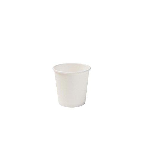 BIOZOYG Vaso Hecho de cartón orgánico I vajillas Desechables Vaso de Beber Taza Hecho de Papel Taza compostable y Vaso Biodegradable Iblanca, no Impresa 100 Unidades 150 ml 6 oz