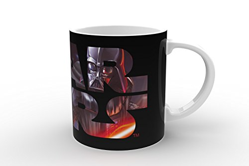 Star Wars Darth Vader Calor Reveal Taza, Negro/Blanco