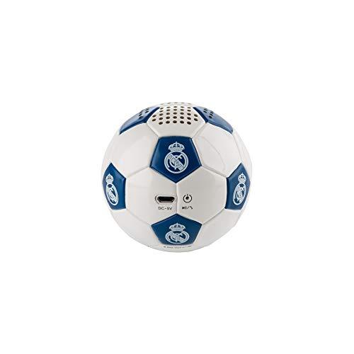 Real Madrid Altavoz Bluetooth Inalámbrico con Forma de Balón con 3-4 horas de autonomía
