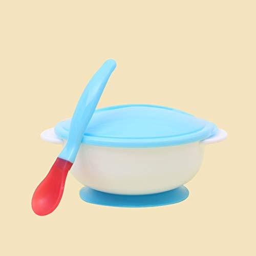 NewIncorrupt Vajilla para bebés Vajilla Cuenco de succión Comida para bebés recién Nacidos Cuencos de alimentación para bebés Platos para bebés Cuenco para Comer con Cuchara