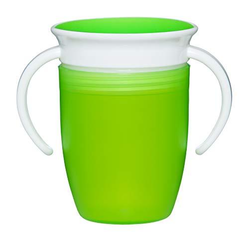 Bellmii® Vaso antiderrames - 360º - Sujeción por asas - Entrenamiento para bebes - Taza de Alimentación - Fácil de limpiar - A partir de 6 meses - Resistente - 207ml -