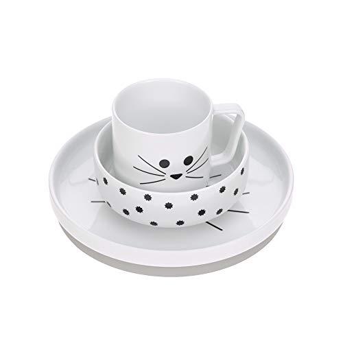 Lässig 1210037108 - Set de vajilla infantil de porcelana/little chums gato, unisex Lot de 1