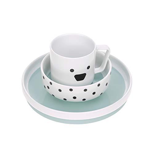 Lässig 1210037524 - Set de vajilla infantil de porcelana/little chums perro, unisex Lot de 1