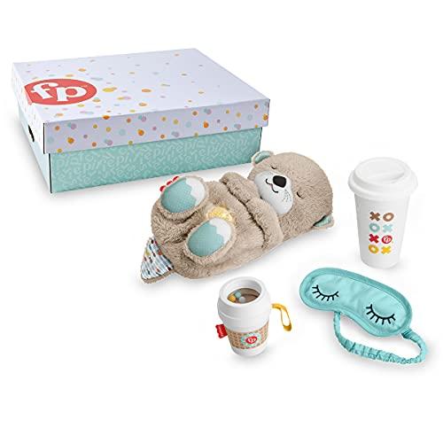 Fisher-Price Nutria con complementos Peluche con Luces y Accesorios para bebé y Padres, Juguete para bebés (Mattel GXW48)