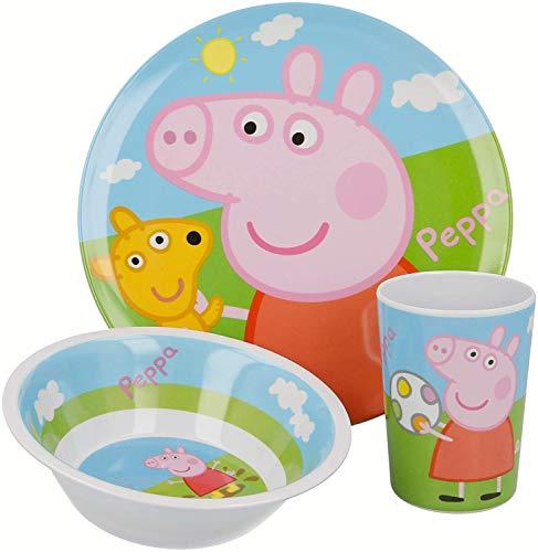 ALMACENESADAN 2630; vajilla Reutilizable Peppa Pig; Compuesto por Vaso; Plato y Cuenco; No BPA