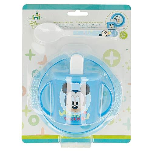 SET MICRO EASY BABY 3 PCS. (CUENCO, TAZA ENTRENAMIENTO Y CUCHARA) MICKEY MOUSE - DISNEY - BABY PAINT POT