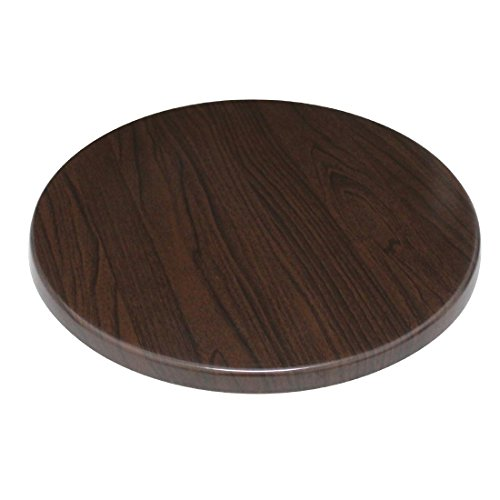 Bolero gg643redondo tablero de la mesa, color marrón oscuro