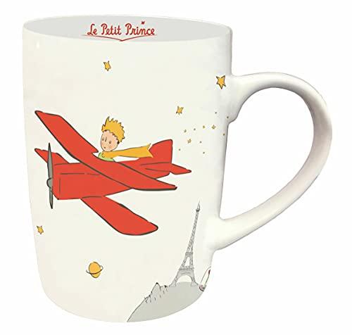 KIUB - Taza redonda de El Principito de París con su avión, 10,5 cm y 370 ml