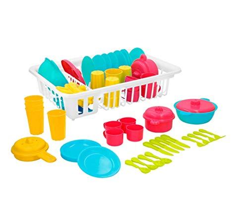 ColorBaby My Home Colors - Escurridor con 35 piezas de menaje