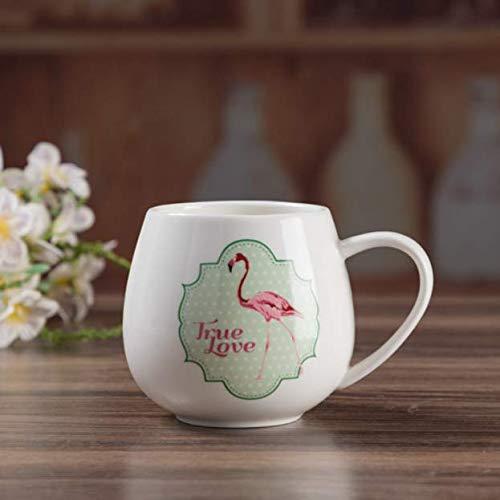 xiaojing Originalidad Flamingo Hello Kitty Doraemon Taza De Dibujos Animados Taza De Cerámica Taza Café Leche Botín Taza Encantadora Encantador Conciso Vidrio De La Oficina