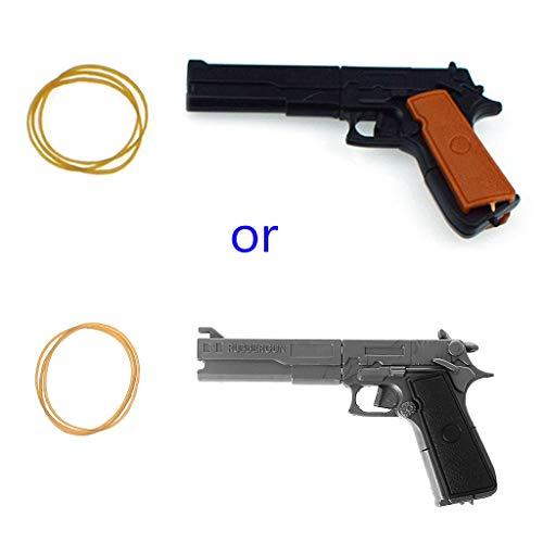 Asamblea clásica banda de goma pistola Shooter Tiro Niños Juguetes de madera portátil vajilla juguete