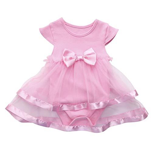 Vestido de niña, Riou_Vestido Princesa sin Mangas con Estampado de Arco de bebé Vestido de Liebre Tutu Ropa de Bebe niña Verano Camisa 2019