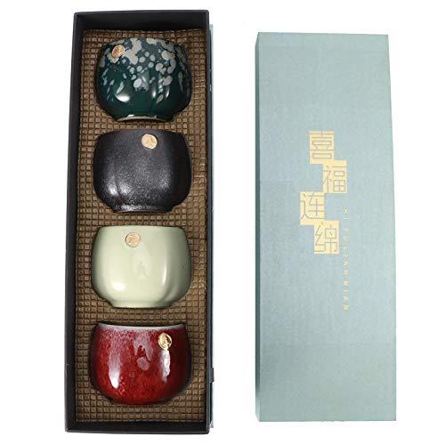 Atyhao Juego de té de Kung Fu de cerámica China, vajilla para Beber, Tazas de té, vajilla clásica de cerámica, pequeño Regalo Artesanal Tradicional(#1)