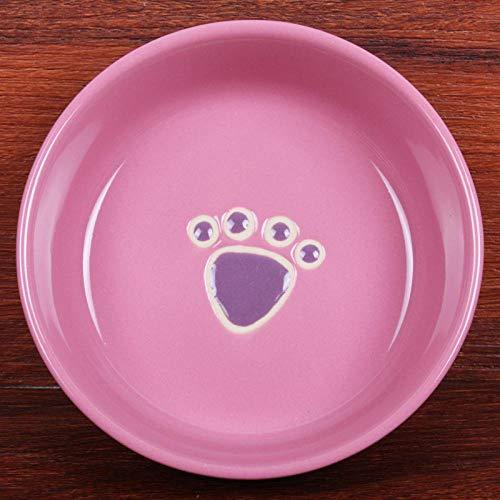 PetMeows Cuenco de cerámica para Gatos vajilla para Mascotas Cuenco de Agua Cuenco para Perros Cuenco de cerámica para Comer y Beber comedero Universal para Gatos y Perros-Violeta_S