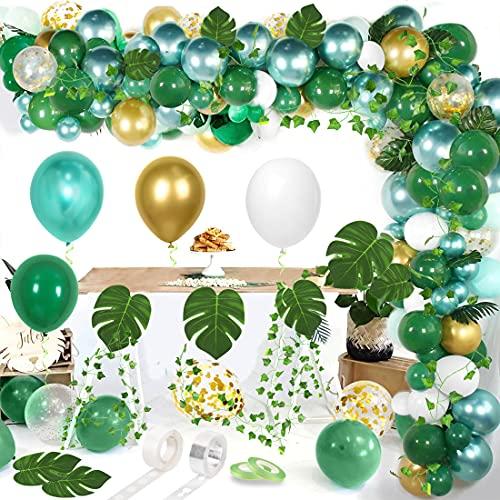 Globos Verdes, Látex Verde, Selva Globos Fiesta de Cumpleaños,Baby Shower,Bodas, Fiestas Tropicales, Graduación o Decoración Fiesta Con Tema Safari En Jungla