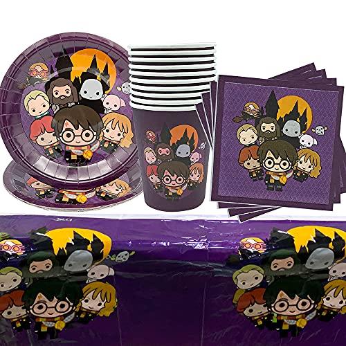 PAWT Wizard Theme - Accesorios de fiesta temática de Harry Potter para cumpleaños, vajilla, decoración de fiestas…