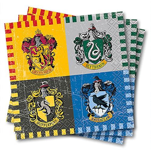 Unique Party - Servilletas de Papel - 13 cm - Diseño de Harry Potter - Paquete de 16 (59101)